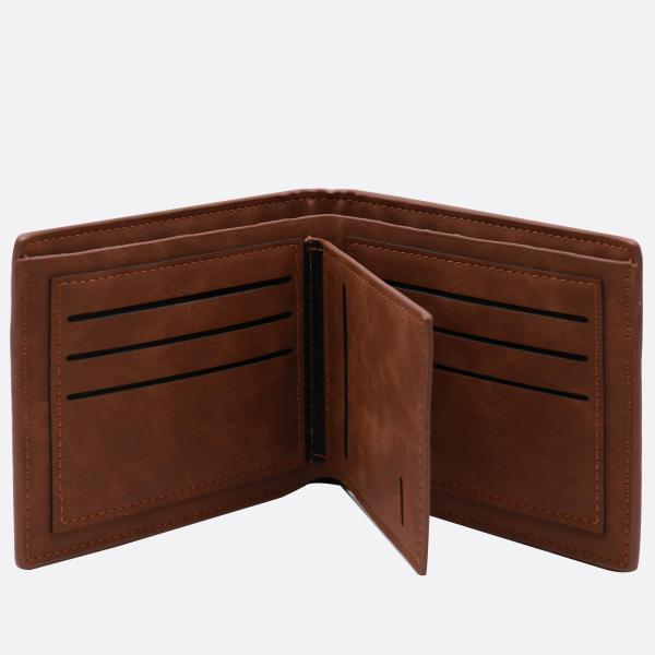 Vintage Soft Leather Men's Trifold Wallet