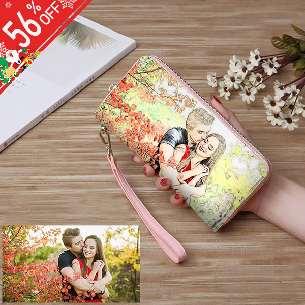 Personalized Crayon Style Photo Women's Wallet