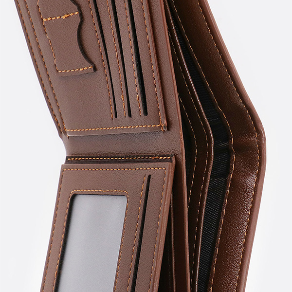 Photo Leather Men's Trifold Wallet