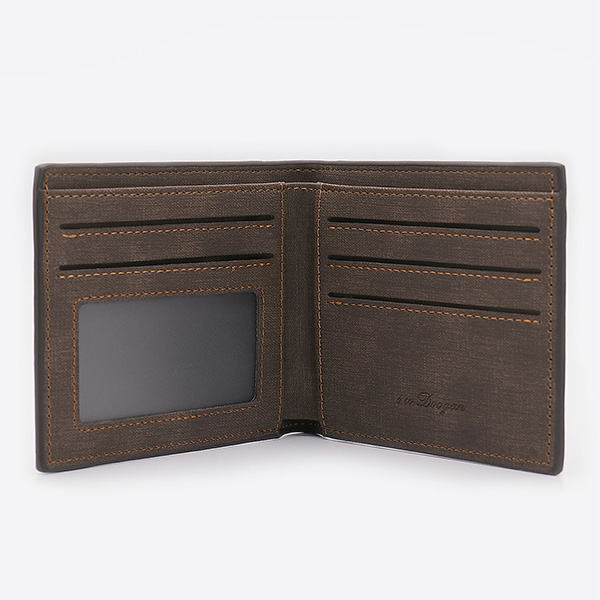Photo Men's Dark Brown Wallet